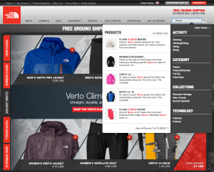 Visit The North Face and type fleece into the search box